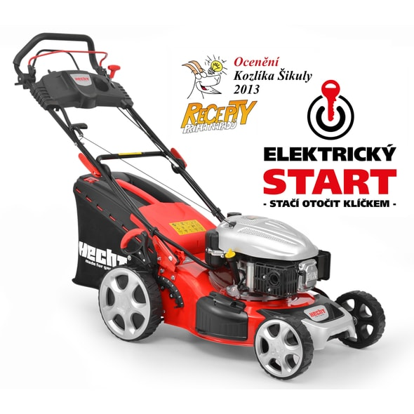 HECHT 548 SWE 5 IN 1 - PETROL LAWN MOWER WITH SELF PROPELLED SYSTEM